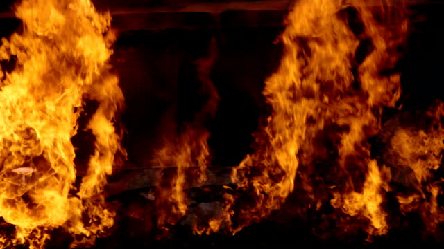 pov : burning truck - trailer stock videos & royalty-free footage