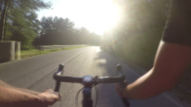 pov cycling - cycling event stock videos & royalty-free footage