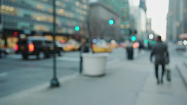 Pov walking on street sidewalk in New York City