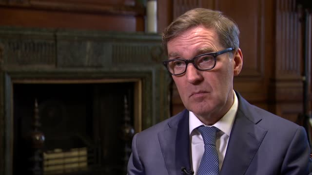 Alan Milburn interview ENGLAND London INT Alan Milburn interview SOT on gulf between the reality of a divided Britain and the aspiration for a one...