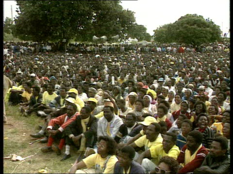poverty deepens as drought leaves millions in danger of starvation; tx 17.5.1994 united democratic front party rally during malawi's first free... - malawi stock videos & royalty-free footage