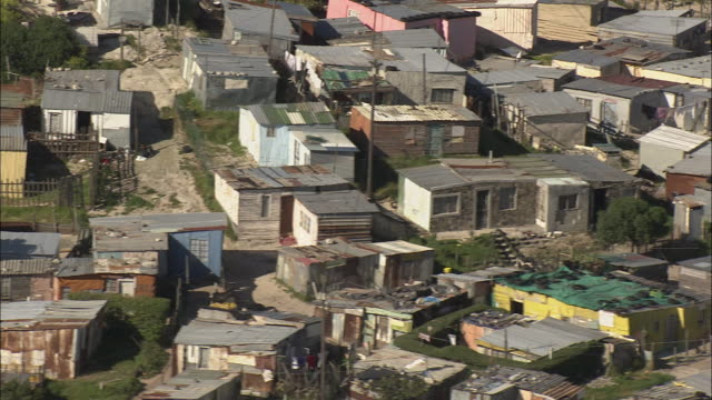 aerial poverty shacks, township khayelitsha, western cape, south africa - cape town stock videos & royalty-free footage
