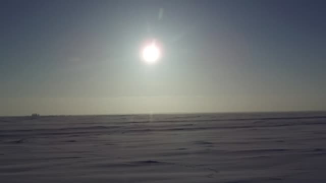 povs shot through the the window of a vehicle around the north slope in prudhoe bay ak on february 17 2017 - bay window stock videos and b-roll footage