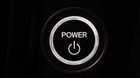 vídeos de stock e filmes b-roll de power button - circle