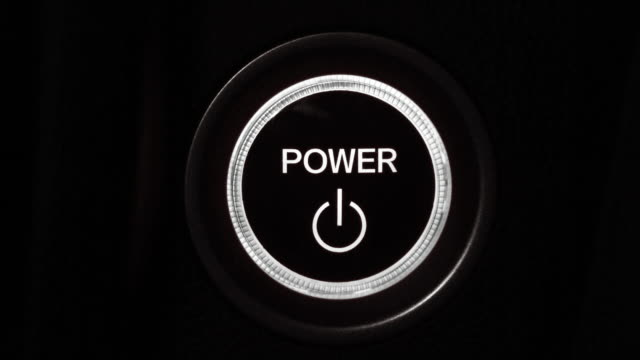 power button - motore video stock e b–roll