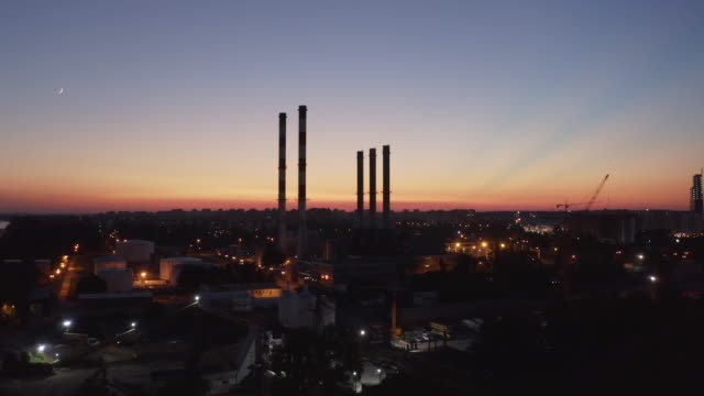 power generating station - industrial district stock videos & royalty-free footage