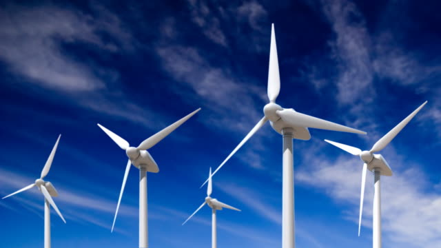 power generating windmills - wind turbine stock videos & royalty-free footage