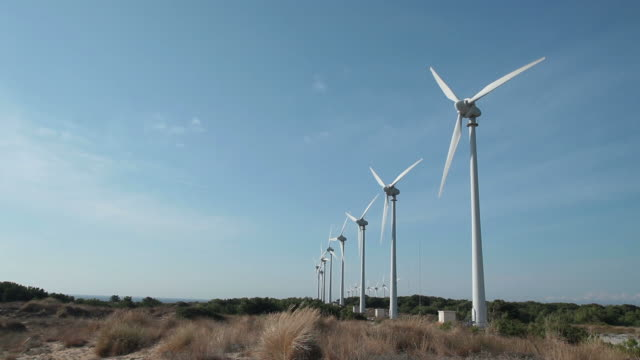 hd: power generating windmills - power in nature stock videos and b-roll footage