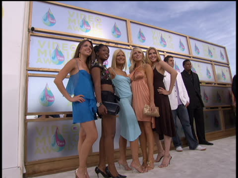 power girls arrive to the 2005 mtv video music awards pre-show. no audio. - 2005 stock videos & royalty-free footage