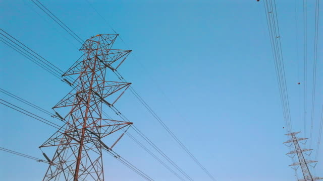 power line shot by smart phone - electricity pylon stock videos & royalty-free footage