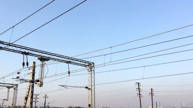 送電線 - power line点の映像素材/bロール