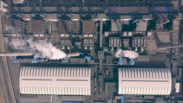 power plant aerial view - ash stock videos & royalty-free footage