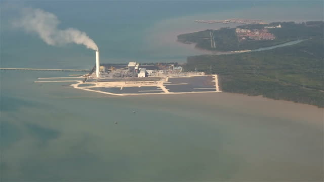 power plant aerial view - malacca stock videos and b-roll footage