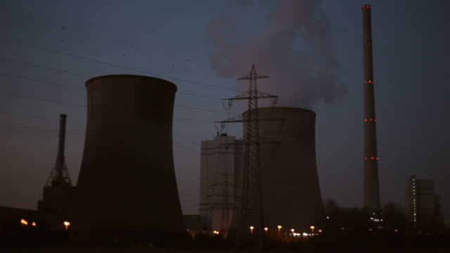 power plant at night - power station stock videos & royalty-free footage