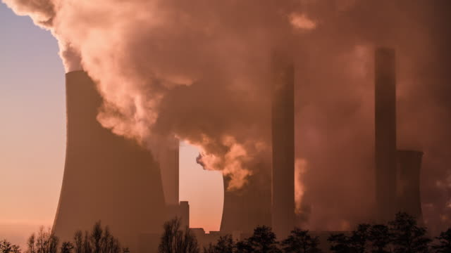 power plant at sunrise - north rhine westphalia stock videos & royalty-free footage