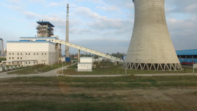 power plant in the country. - cooling tower stock videos & royalty-free footage