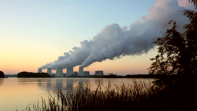 power plant in the sunrise - time lapse - synthpop stock videos & royalty-free footage