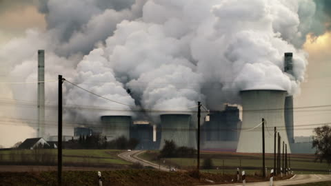 power plant pollution - fumes stock videos & royalty-free footage