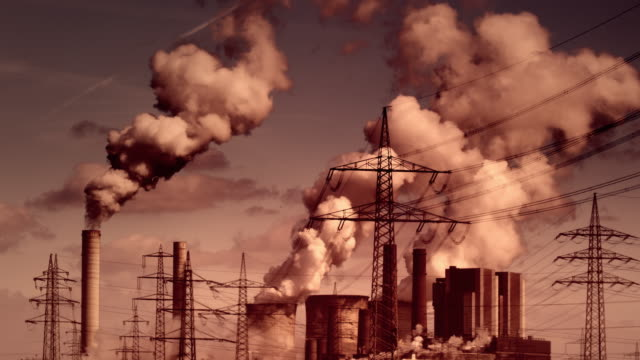 power plant - smoke stack stock videos & royalty-free footage