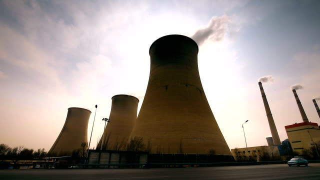 power plant - air pollution stock videos and b-roll footage