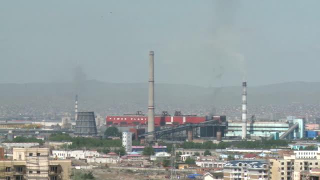 power plants in ulaanbaatar, mongolia - ulan bator stock videos & royalty-free footage