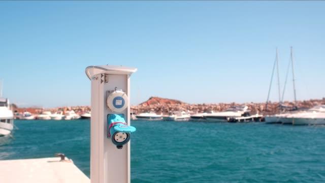 power socket - marina stock videos & royalty-free footage