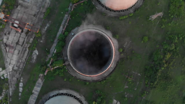 power station and chimneys in eastern europe - bulgaria stock videos & royalty-free footage