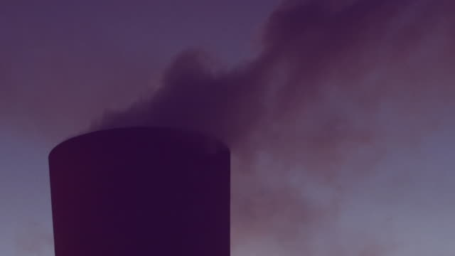 power station chimney releases steam - south africa stock videos & royalty-free footage