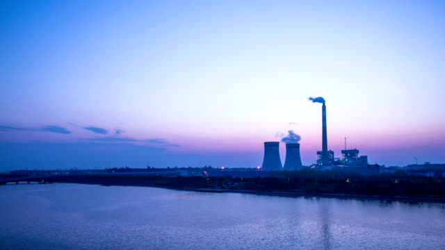 power station generating electricity dusk to night,hyper lapse. - dusk to night stock videos & royalty-free footage