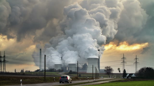 power station - air pollution stock videos & royalty-free footage