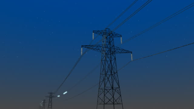 power transmission - power line stock-videos und b-roll-filmmaterial