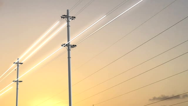 power transmission - electricity pylon stock videos & royalty-free footage
