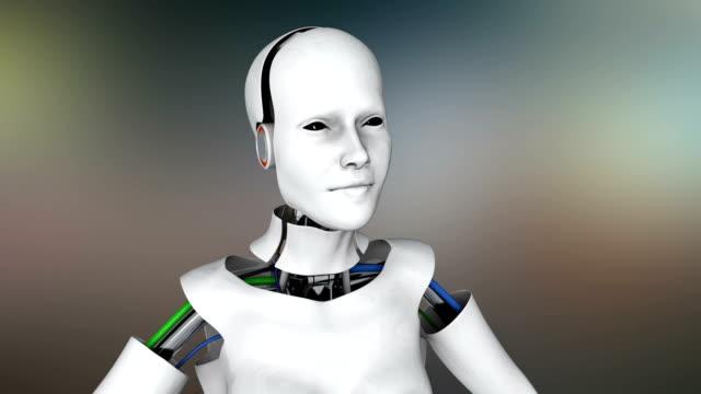 humanoide roboter einschalten - menschliche darstellung stock-videos und b-roll-filmmaterial
