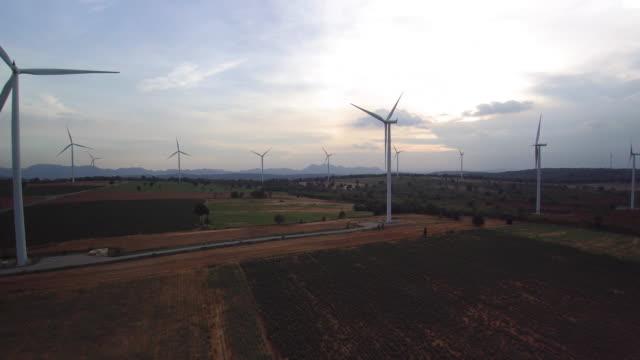 Energie Windturbine aus der Luft betrachtet werden.