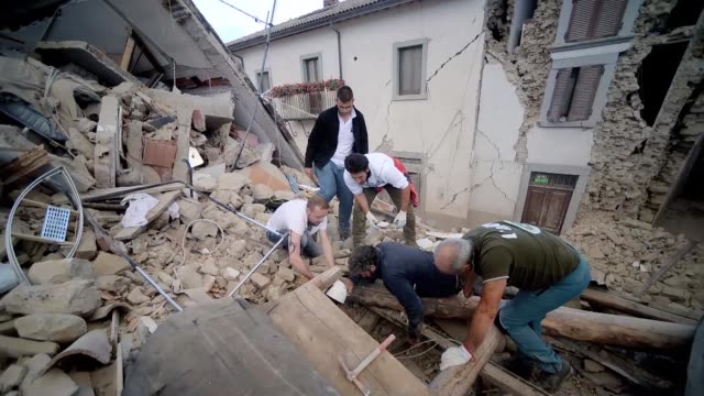 A powerful 62 magnitude earthquake struck central Italy devastating mountain villages and leaving at least five people dead