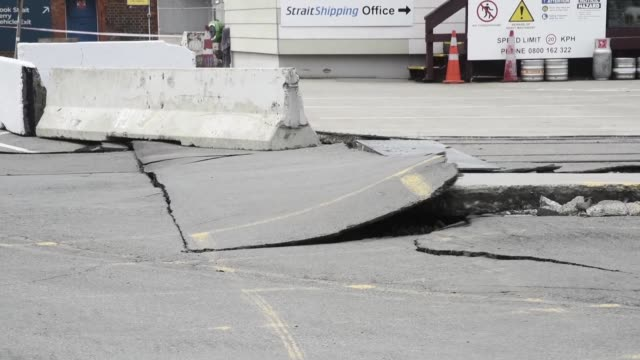 a powerful 78 magnitude earthquake kills two people and causes infrastructure damage in new zealand but officials say they are optimistic the death... - earthquake stock videos & royalty-free footage