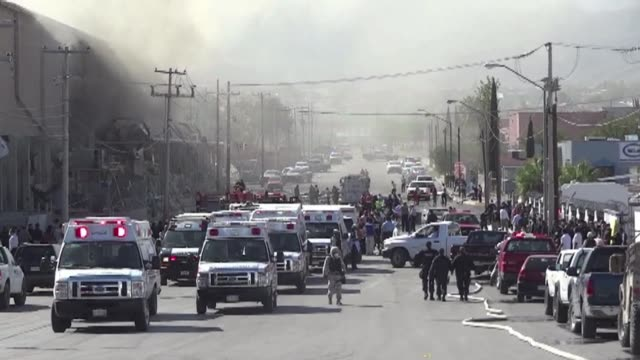 powerful blast rocked a us owned candy factory in northern mexico on thursday killing one person and injuring more than 40 as rescuers searched for... - northern mexico stock videos & royalty-free footage