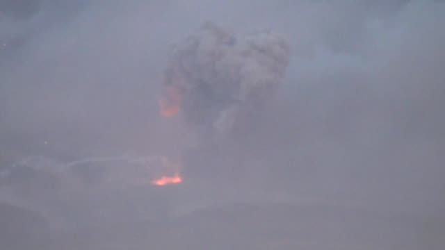 powerful explosions rocked yemen's capital on monday as warplanes from the saudiled coalition targeted a rebel arms depot with medics reporting five... - yemen stock videos & royalty-free footage