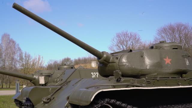 A powerful military tank