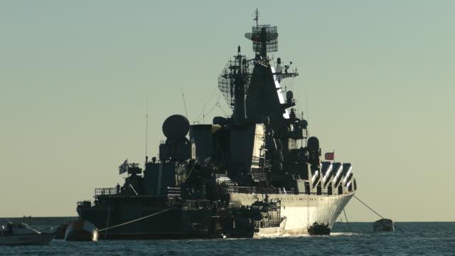 krachtige raket oorlogsschip