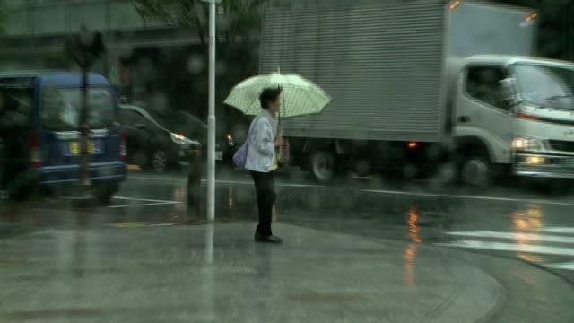 a powerful typhoon made landfall near hamamatsu shizuoka prefecture monday morning and will likely move toward the tokyo metropolitan area the japan... - hamamatsu stock videos and b-roll footage