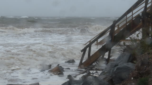 Powerful Waves Damaging Homes On The Coast