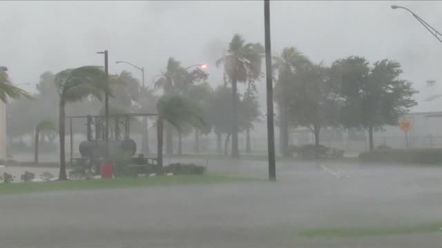 powerful wind and heavy rain from hurricane harvey lash the gulf coast of texas uprooting trees tearing off roofs and forcing tens of thousands of... - corpus christi texas stock videos & royalty-free footage