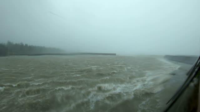 powerful wind and rain from typhoon haishen lash amami oshima, japan - island stock videos & royalty-free footage