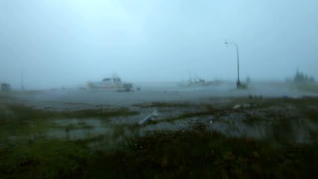 powerful wind and rain from typhoon haishen lash amami oshima, japan - pacific islands stock videos & royalty-free footage