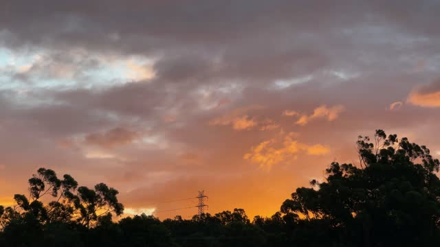 powerlines at sunset - power line stock videos & royalty-free footage