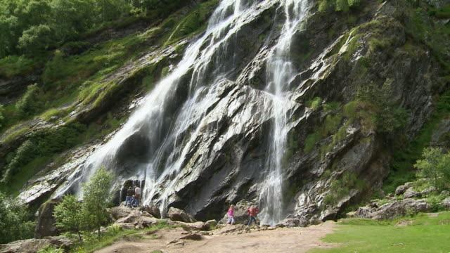 ms tu powerscourt waterfall / enniskerry, county wicklow, ireland - record breaking stock videos & royalty-free footage