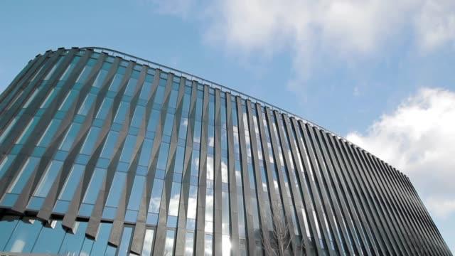 powisle park office building - warsaw stock videos & royalty-free footage