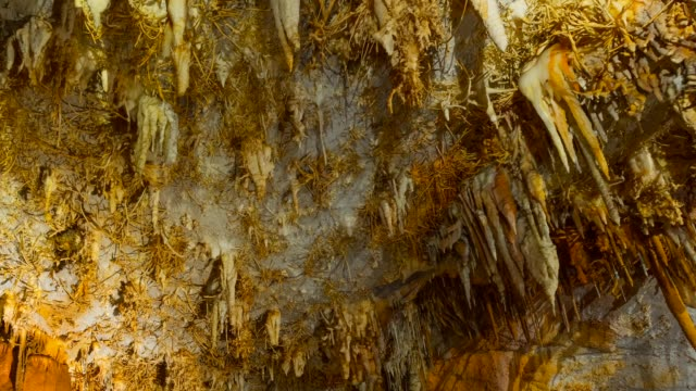 pozalagua caves - stalagmite stock videos and b-roll footage