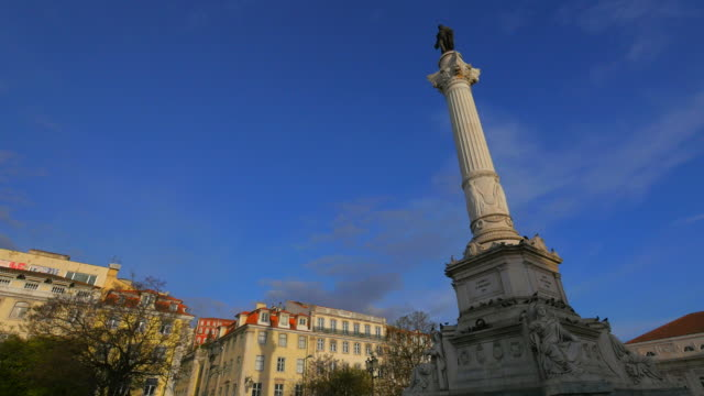 Praca Dom Pedro IV (Rossio Square), old town of Lisbon, Portugal